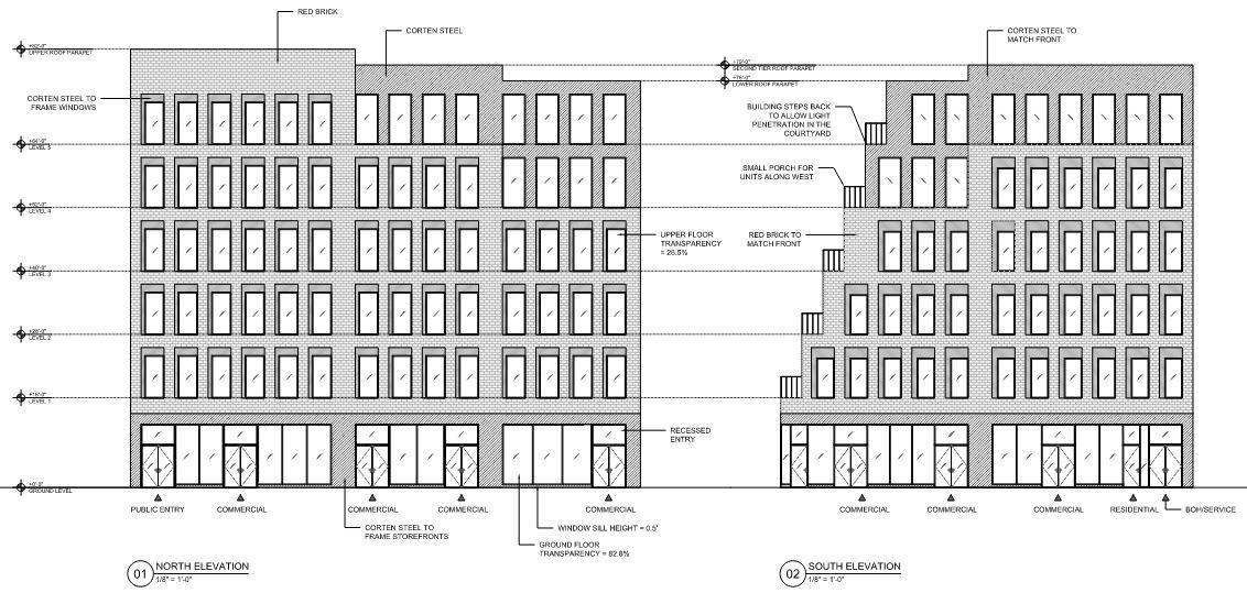 Massing Diagram for 361 Main Street - MASS Design Group