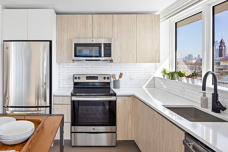Model kitchen at The Beach - Courtesy of Newport Leasing Office