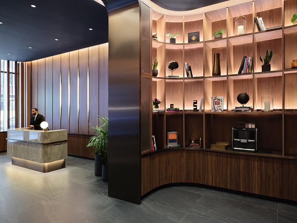 New ground floor lobby at 545 Madison - Courtesy of Marx Realty