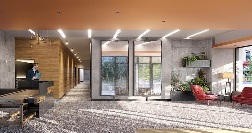 Plank Road/662 Pacific Street residential lobby - VMI rendering for IF Studio