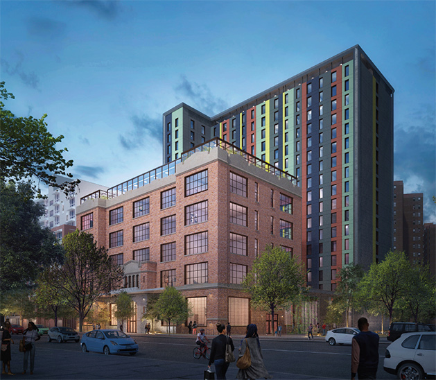 Rendering of 'The Beacon' at 413 East 120th Street