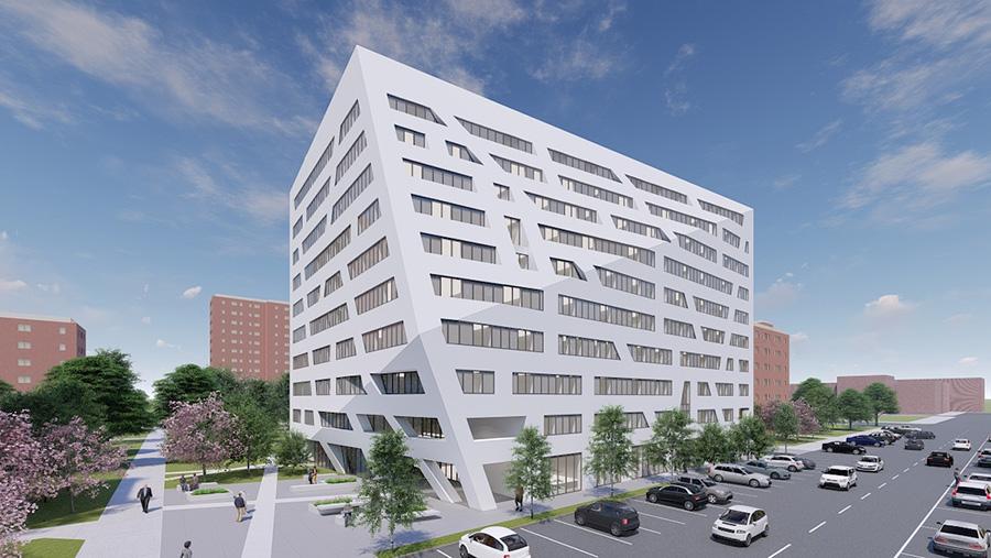 Rendering of The Atrium at Sumner - Studio Libeskind; Sumner Senior Partners LLC