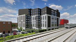 Rendering of proposed residential building at 80-52 47th Avenue - Stephen B. Jacobs Group