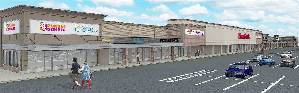 Rendering of the Tysens Park Shopping Center - Park Tysen Associates LLC
