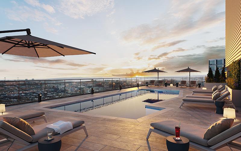 Rooftop pool at Plank Road/662 Pacific Street - VMI rendering for IF Studio