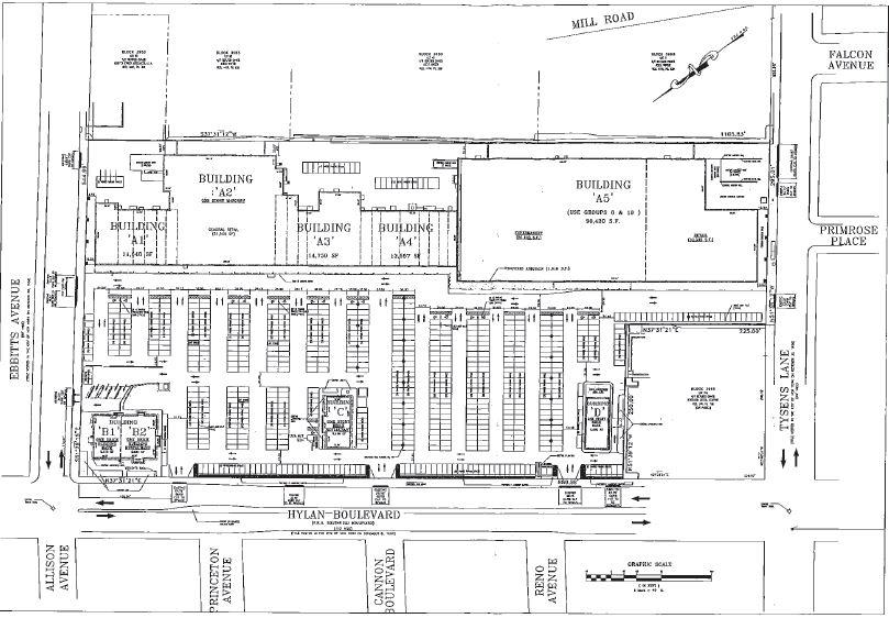Site map illustrates the full Tysens Park Shopping Center - Park Tysen Associates LLC