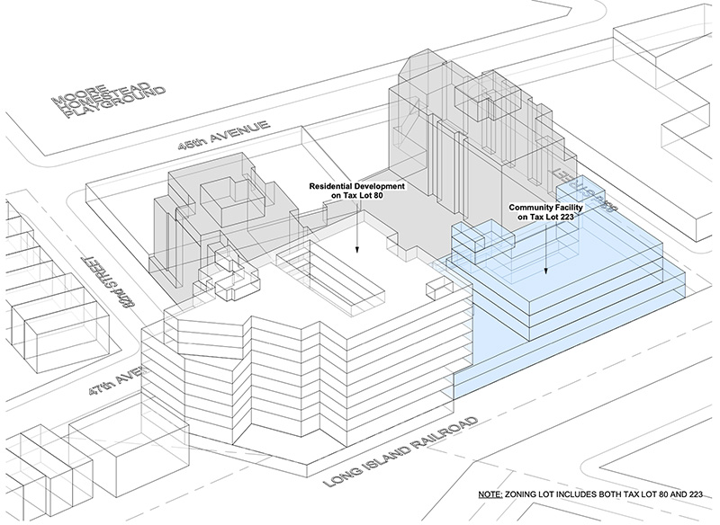 Site plan for the proposed residential building and charter school - Stephen B. Jacobs Group