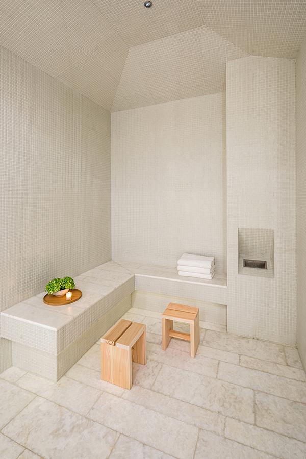 Spa treatment room at 53W53 - Photo by Evan Joseph