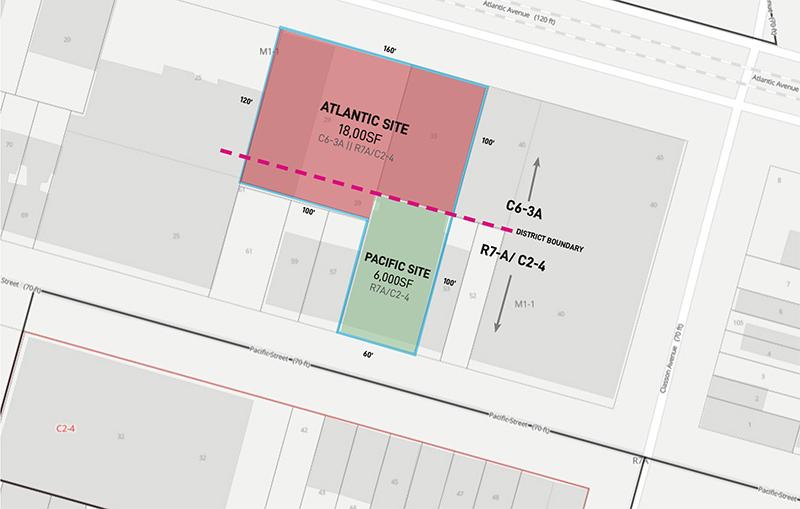 1034-1042 Atlantic Avenue site plan - Archimaera