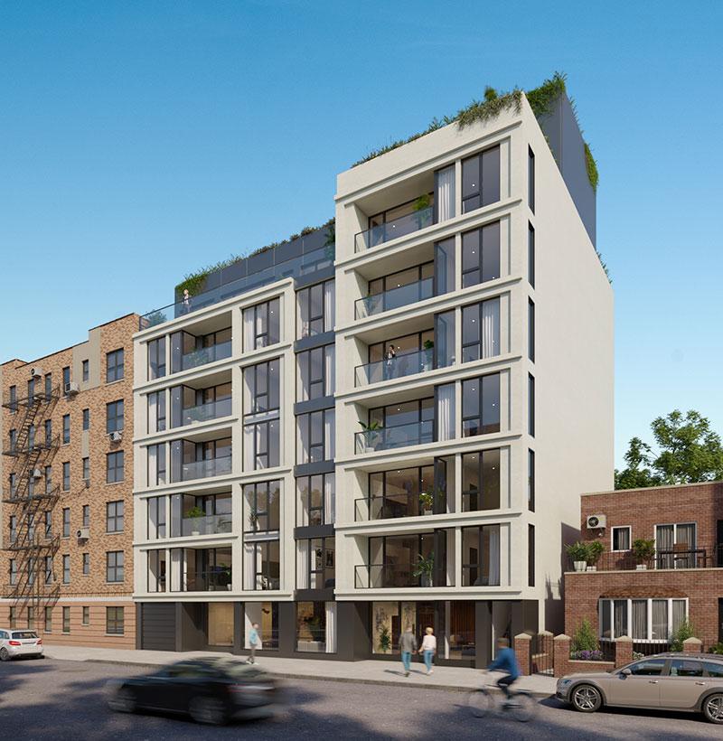 Rendering of 31-48 Crescent Street - C3D Architecture