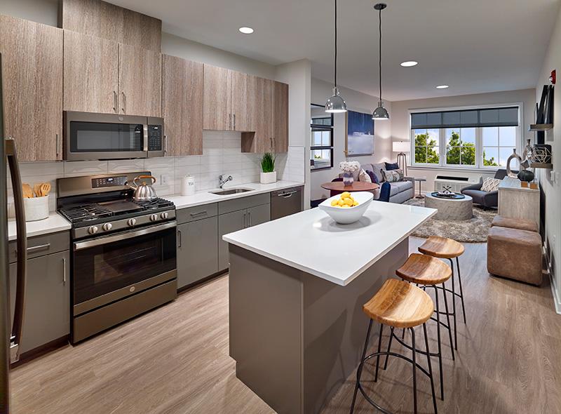 Model kitchen at 945 Stuyvesant Avenue, Centurion Union Center - LANDMARK