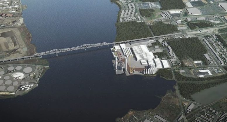 Rendering of Arthur Kill Terminal Project in operation - Photos by Atlantic Offshore Terminals