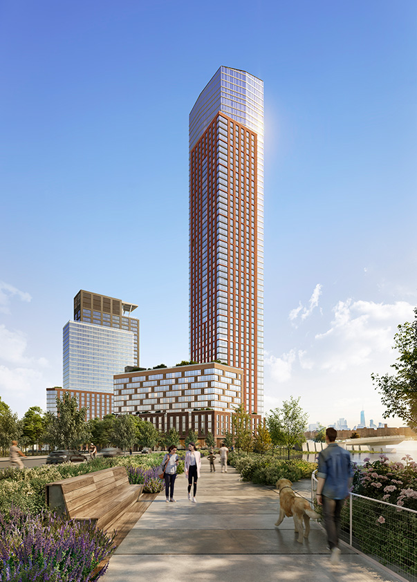 Rendering of Gotham Point's North Tower - Courtesy of VUW Studio
