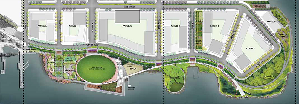 Site map illustrates each parcel comprising Hunters Point South - NYC Department of Housing Preservation