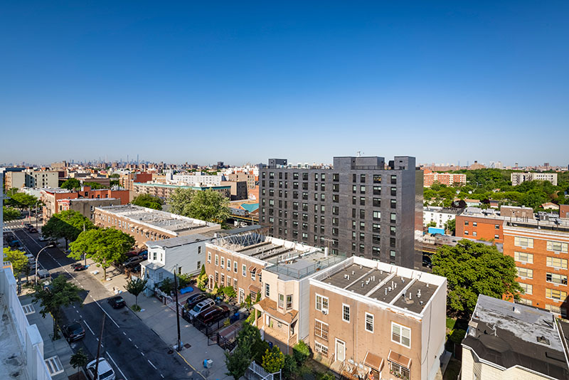 Aerial view of rear elevation at 1490 Southern Blvd