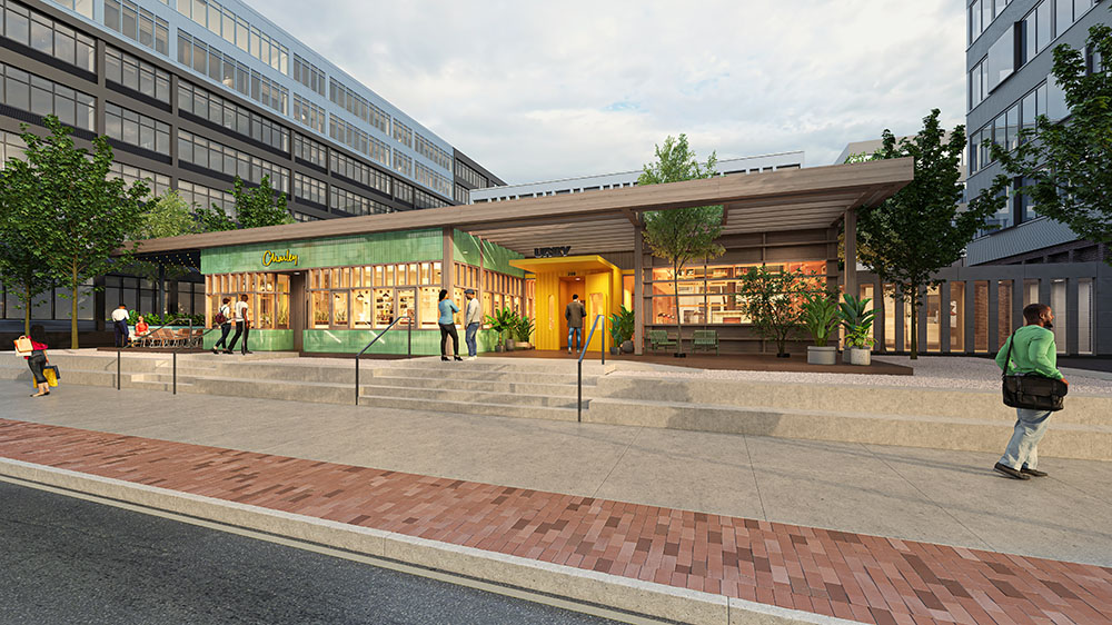 Rendering of Charley cafe at Harrison Urby - Photo Courtesy of Urby