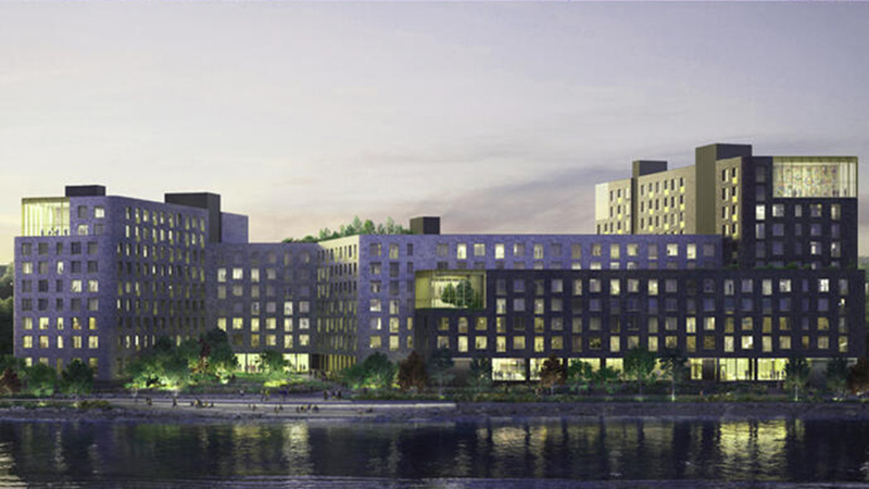 Rendering of forthcoming affordable housing property at Stapleton Site A - Courtesy of Secchi Smith