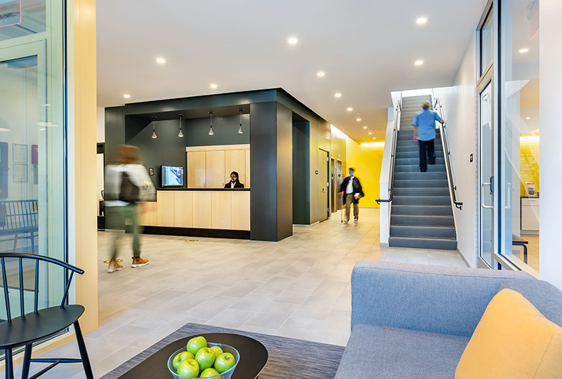 Residential lobby at 1490 Southern Blvd