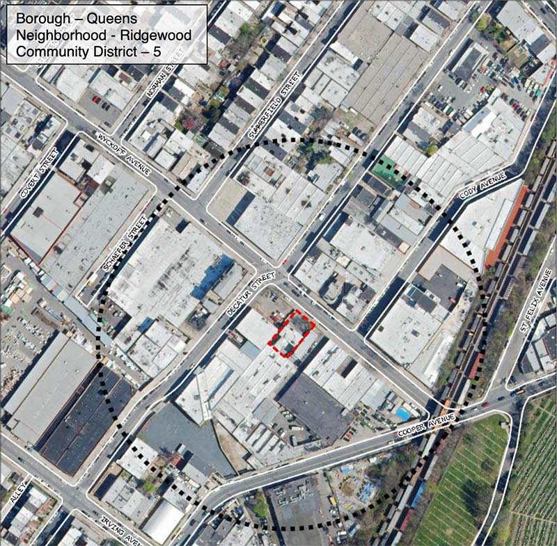 Site map for 11-12 Wyckoff Avenue
