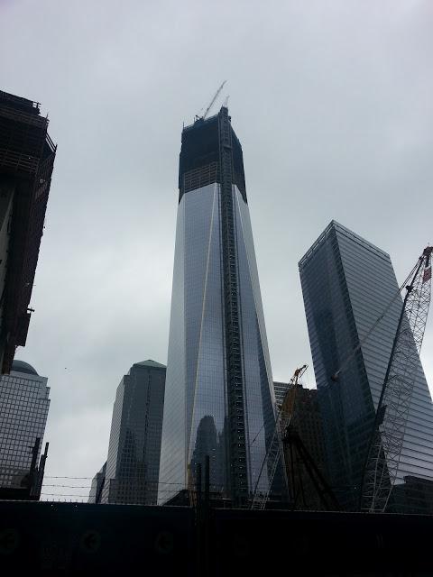 One World Trade Center rising in Lower Manhattan