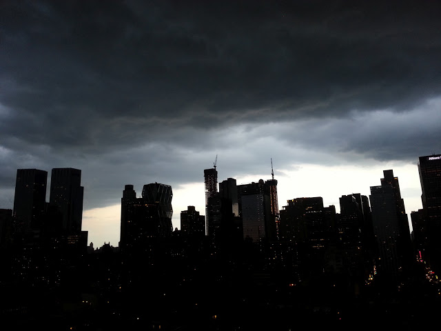 New York Skyline with Storms
