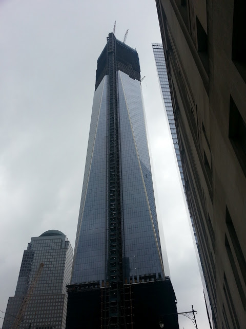 One World Trade Center rising in Lower Manhattan, July 2012